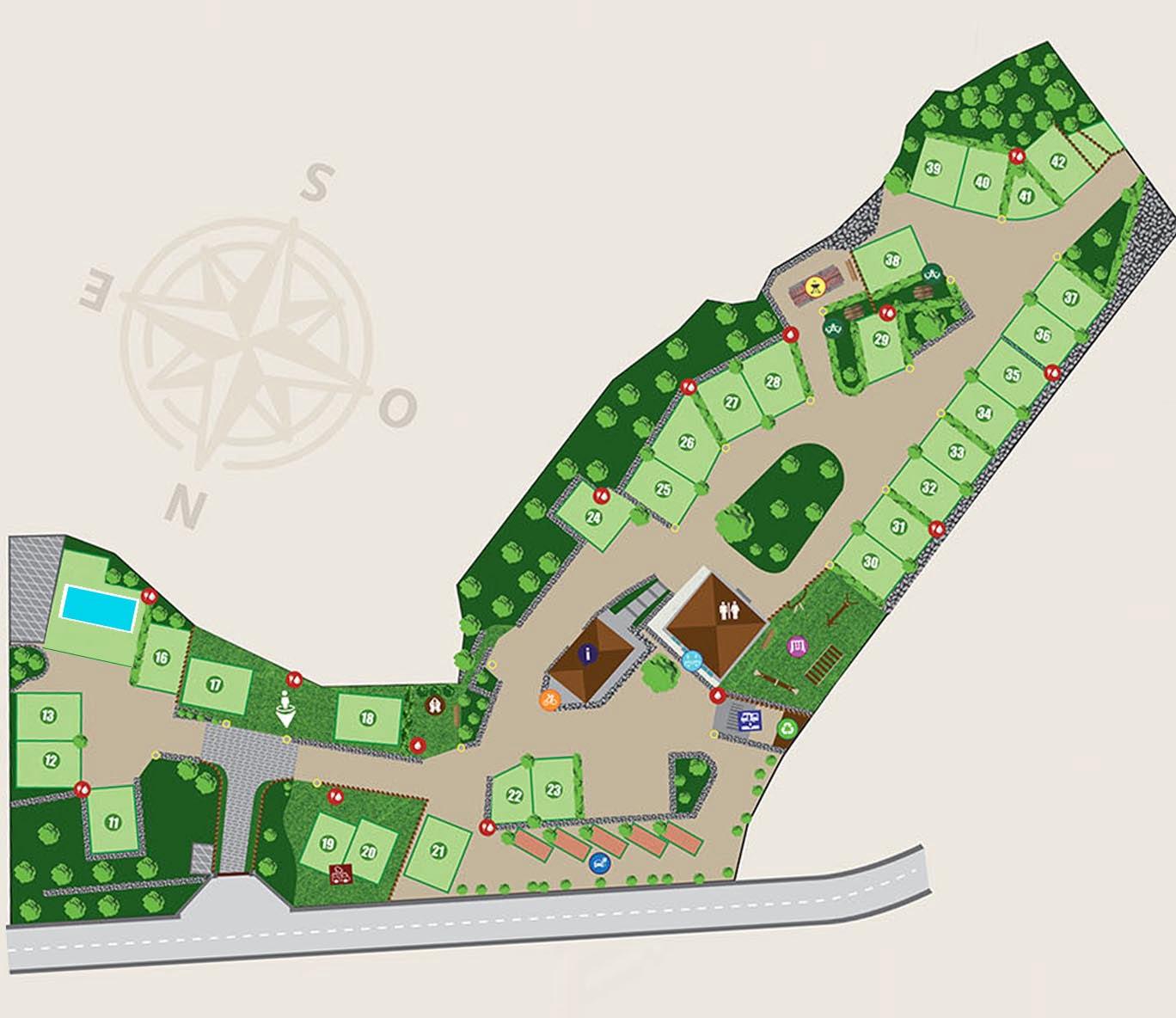 mappa area attrezzata camper etna